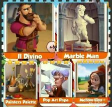 5 X Cards from Artist Set Coin Master Cards Fast Delivery!!!