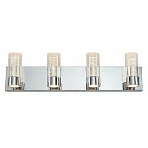 VAN4RA-RN Ratio Vanity Light Fixture, Indoor Bathroom/Kitchen Wall Light with