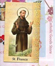 Saint St. Francis of Assisi - Biography, prayer, Feast Day, etc... Folder Card