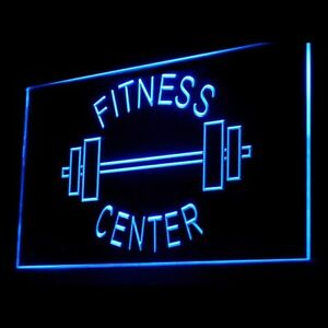 160034 OPEN Fitness Center Gym Apparatus Display Neon Sign