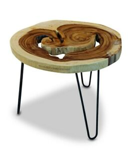Coffee Table Tree Pane Sofa Flower Stand Acacia Solid Wood