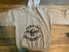 Vintage Avenged Sevenfold Full Zip Hooded Sweatshirt SIZE LARGE