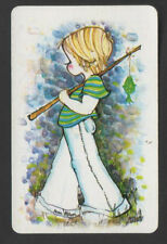 Swap Playing Cards 1  Groovy Cute Little Boy in Flairs Fishing A321