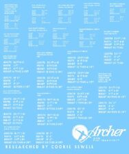 Archer AR35012W 1/35 Dry Transfers British D-Day Stencils for Softskins-White