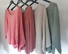 LADIES NEW ITALIAN LINEN /COTTON TOP. O/S