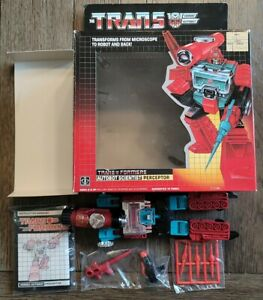 Vintage 1985 Hasbro G1 Transformers Perceptor Complete With Box & Instructions
