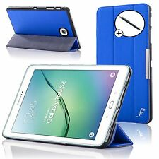 Leather Blue Folding Smart Case Cover Samsung Galaxy Tab S2 8.0 T710 + Stylus