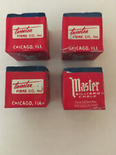 FOUR VINTAGE BILLIARD POOL CUE MASTER CHALK - FREE SHIPPING