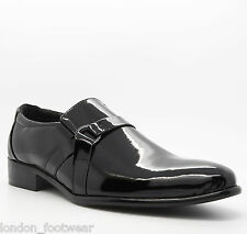 Mens Formal Patent Leather Black Shoes Dress Wedding Casual Italian Party Size