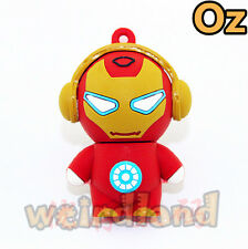 Music Iron Man USB Stick, 16G Quality 3D USB Flash Drives weirdland