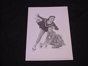 1963-73 Equitable Life Sports Print CAROL HEISS - Ice Skating
