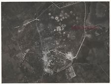 Aérodrome de Montpellier bombardé Photo prise juin 1945 Vintage argentique