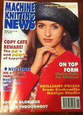 VINTAGE MACHINE KNITTING NEWS June 1995 15 Patterns Sweater T Shirt CHIlD BABY