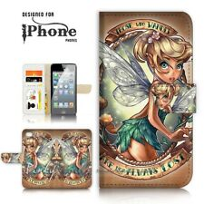 ( For iPhone 7 ) Wallet Case Cover P21066 TinkerBell