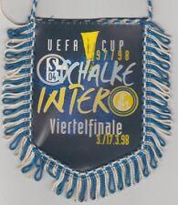 Orig.Wimpel  UEFA Cup 1997/98   FC SCHALKE 04 - INTER MAILAND  1/4 FINALE !! TOP