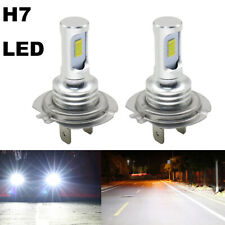 2x H7 Led Headlight Bulbs Kit High Low Beam 8000Lm Super Bright 6000K White Usa