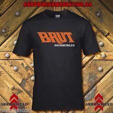 Brut snowmobile vintage style black T-shirt