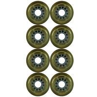 Inline Roller Skate Wheel Clear/Grey 72mm 80a