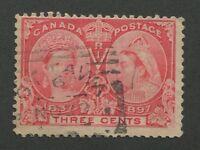 "CANADA #53 USED JUBILEE SQUARED CIRCLE CANCEL ""OTTAWA"" (.02)"
