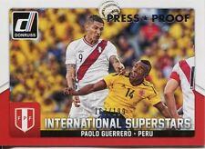 Donruss soccer 2015 Plata [199] tarjeta Chase Int. superestrellas #77 Paolo Guerrero
