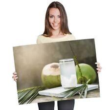 A1-Natural De Agua Jugo de Coco joven cartel 60X90cm180gsm impresión #21366