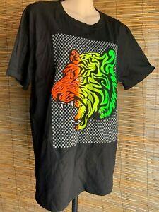 Mens t shirt.Size M/L.106cm chest.Tiger print front + back.100% cotton.Brand New