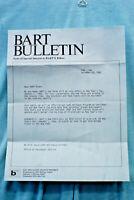 BART Bulletin #196 - 12/20/85 - Fare Changes