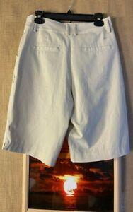 Nike golf women's dri-fit UV beige stretch shorts size 4p