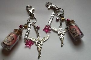 Personalised fairy keyring / bag charm with free gift bag.