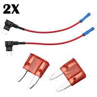 2Pcs Add A Circuit Piggy Back Fuse Tap Mini Blade Fuse Holder ATM 12V 24V