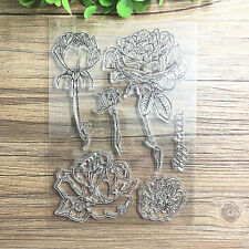 1Sheet Silicone Transparent Stamp Seal rose DIY Scrapbooking Album Special offer