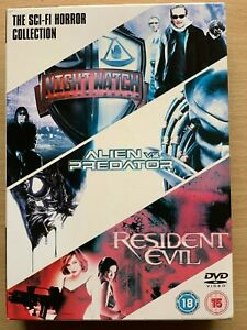 Night Watch Alien Vs Predator Resident Evil DVD Box Set Horror Movie Triple Bill