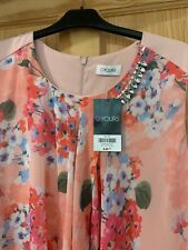 Size 22 Yours Peach flowery summer knee length dress, never worn, cost £45