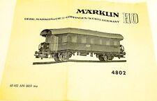 Manuel Märklin 4802 68 402 à 0859 ma Å