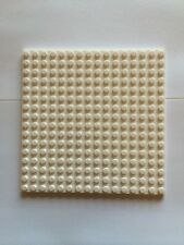 "Lego Plates 16x16 White Base Plate 5""x5"" Part 4618526 Roof Floor 16 X 16 Snow"
