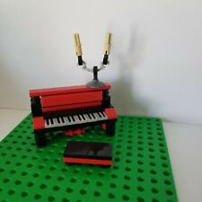 Lego Instrument Piano BLACK RED Candle Opera Bench Classic Music Upright