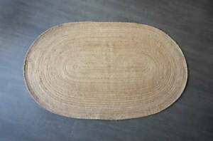 lndian oval jute rug natural jute rug door mat rustic decor rug livingroom rug