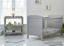Obaby GRACE 2 PIECE NURSERY ROOM SET Cot Bed Changer Warm Grey BN