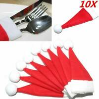 10PCS Christmas Mini Lollipop Top Mini Santa Claus Hat Cap Wrap Xmas Party Decor