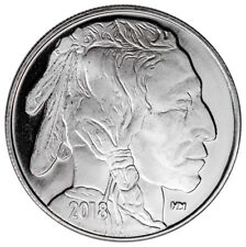 2018 Highland Mint Buffalo Nickel Design 1 oz Silver Round SKU50335