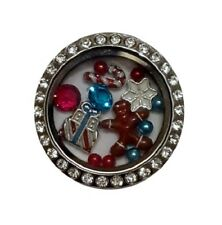 Winter Christmas Themed Floating Charm Set w/Authentic Origami Owl Crystals C2