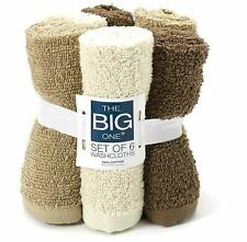 The Big One® 6-pack Solid Washcloths (Linen)