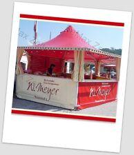 Marktstand Verkaufsstand Imbiss Grillstand 23,4m² / Rot-creme