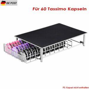 Kapselspender Kapselhalter Ständer Für 60 Tassimo Kapseln Schublade Spender
