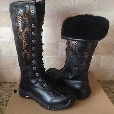 UGG Adirondack II Exotic Velvet Tall Waterproof Leather Snow Boot Size 6.5 Women