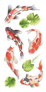 Stickers Crafts Paper House Koi Fish Repeats Lily Pads Slim
