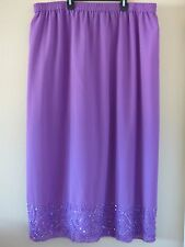 Gunit Evening Wear Formal Long Purple Beaded Skirt Ladies Plus Size 3X
