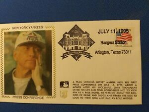 1995 Mickey Mantle New York Yankees First Day Issue