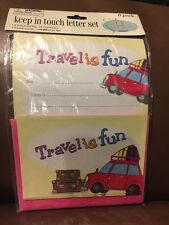 """Greenbrier International Keep In Touch Letter Set """"Travel Is Fun"""""""