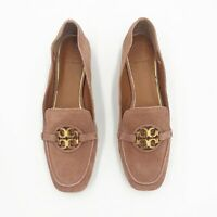 Tory Burch | Miller Square-Toe Pink Suede Slip On Loafers Size 7.5